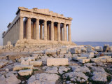 The Parthenon at Sunset  Unesco World Heritage Site  Athens  Greece  Europe