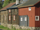 Preserved Miners' Houses  World Heritage Site of Roros  Trondelag  Norway  Scandinavia  Europe