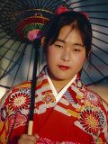 Young Japanese Girl in Kimono  Japan