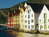 Restored Harbourfront Wooden Warehouses  Bergen  Norway  Scandinavia  Europe
