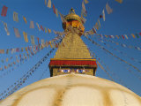 Bodhnath Stupa (Bodnath  Boudhanath) the Largest Buddhist Stupa in Nepal  Kathmandu  Nepal