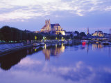 St Stephen's Cathedral and St Germain Abbey  Auxerre  Bergundy  France  Europe