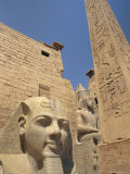 Ramses II and the Obelisk at Luxor Temple  Luxor  Thebes  Egypt  Africa