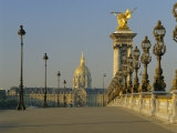 Grand Palais and Petit Palais with the Pont Alexandre III (Bridge)  Paris  France  Europe