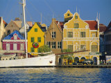 Colonial Gabled Waterfront Buildings  Willemstad  Curacao  Caribbean  West Indies