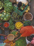 Overhead View of the Fruit and Vegetable Market  Pushkar  Rajasthan State  India  Asia