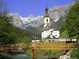 Church at Ramsau  Bavaria  Germany  Europe