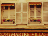 Window Boxes and Shutters  Montmartre  Paris  France  Europe