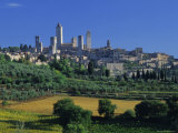 The Town of San Gimignano  Tuscany  Italy  Europe