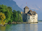 Chateau De Chillon  Montreux  Lake Geneva  Swiss Riviera  Switzerland