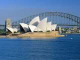 Opera House and Sydney Harbour Bridge  Sydney  New South Wales  Australia