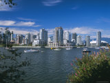 City Skyline from False Creek  Vancouver  British Columbia (BC)  Canada  North America