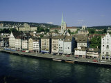 City View Across the Limmat River  Zurich  Switzerland  Europe