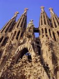 Sagrada Familia Cathedral by Gaudi  East Face Detail  Barcelona  Catalonia  Spain