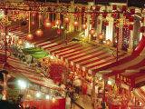 Stalls with Lanterns  Chinatown  Singapore