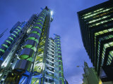 Lloyds Building at Night  City of London  London