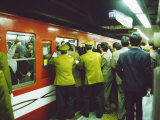 Rush Hour at Shinjuku Subway Station  Tokyo  Japan