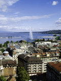 View Over the City  Geneva  Switzerland  Europe