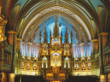 Interior  Basilica of Notre Dame  Montreal  Quebec Province  Canada