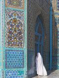 Pilgrim at the Shrine of Hazrat Ali  Mazar-I-Sharif  Balkh  Afghanistan  Asia