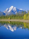 Jackson Lake  Colter Bay  Grand Teton National Park  Wyoming  USA