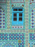 Tiling Around Blue Window  Shrine of Hazrat Ali  Mazar-I-Sharif  Balkh  Afghanistan  Asia