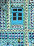 Tiling Around Blue Window  Shrine of Hazrat Ali  Mazar-I-Sharif  Balkh  Afghanistan  Asia