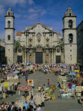 Cathedral  Plaza and Market  Havana  Cuba  West Indies  Central America