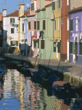 Painted Houses  Burano  Venice  Veneto  Italy  Europe