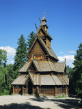 Stave Church  Folk Museum  Bygdoy  Oslo  Norway  Scandinavia  Europe