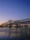 Mississippi River Bridge  New Orleans  Louisiana  USA
