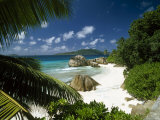 Tropical Beach Scene  Anse Patates  La Digue  Seychelles