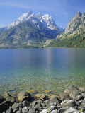 Tetons and Jenny Lake  Grand Teton National Park  Wyoming  USA