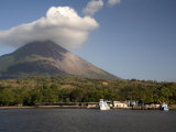 Moyogalpa Port and Conception Volcano  Ometepe Island  Nicaragua  Central America