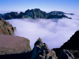 Clouds Below Mountain Peaks  Pico Do Arieiro  Madeira  Portugal  Europe