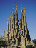 La Sagrada Familia  Gaudi Cathedral  Barcelona  Catalonia (Cataluna) (Catalunya)  Spain  Europe