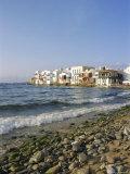 Little Venice  Mykonos Town  Mykonos  Cyclades Islands  Greece  Europe