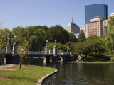 Lagoon Bridge in the Public Garden  Boston  Massachusetts  USA