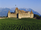 Aigle Chateau and Vineyard  Near Lac Leman  Switzerland