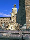 Neptune Fountain  Piazza Della Signoria  Florence  Unesco World Heritage Site  Tuscany  Italy