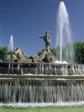 Neptune Fountain  Near Prado  Madrid  Spain  Europe