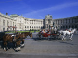 Neue Hofburg and Fiaker (Horse Drawn Carriages)  Vienna  Austria  Europe
