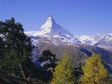 The Matterhorn Mountain 4478M)  Valais (Wallis)  Swiss Alps  Switzerland  Europe