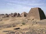 Bajrawiya  the Pyramids of Meroe  Sudan  Africa