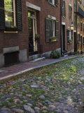 Acorn Street  Beacon Hill  Boston  Massachusetts  USA