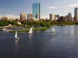 City Skyline from the Charles River  Boston  Massachusetts  USA