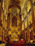 Church of StKames  Nave  Prague  Czech Republic  Europe