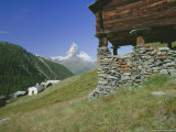 The Matterhorn Mountain (4478M) from Findeln  Valais (Wallis)  Swiss Alps  Switzerland  Europe