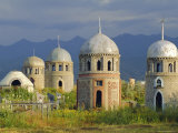 Traditional Kirghiz Cemetary  Near Burana Tower  Kyrgyzstan  Central Asia