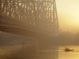 The Howrah Bridge Over the Hugli River  Calcutta  West Bengal  India